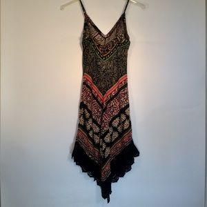Crystal Doll Dresses - Boho Floral Asymmetrical Dress